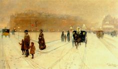 A City Fairyland, 1886  Childe Hassam    so beautiful it catches at my heart