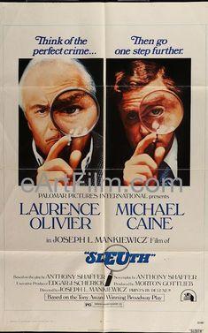 #HappyBirthday #MichaelCaine https://eartfilm.com/search?q=michael+caine #Actors #acting #GetCarter #DressedToKill #Sleuth #HannahAndHerSisters #ABridgeTooFar #London #England #Cockney #voiceover #voiceactors #movie #movies #poster #posters #film #cinema #movieposter #movieposters    Sleuth 1972 27x41 One Sheet United States