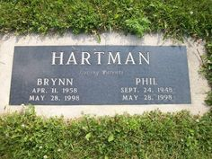 """Phil Hartman (1948 - 1998) Comedian, popular performer on """"Saturday Night Live"""", played Bill on the TV series """"News Radio"""", did many voices on the series """"The Simpsons"""". Murdered by his wife."""