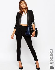 Trousers by ASOS TALL Smooth, woven fabric High waistband Tacked pockets to back Skinny fit - cut closely to the body Machine wash 100% Polyester Our model wears a UK 8/EU 36/US 4