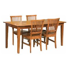 Home Styles Arts & Crafts 5 Piece Dining Set - Cottage Oak | from hayneedle.com