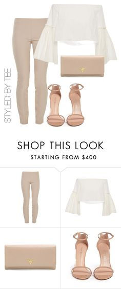 """""""Untitled #155"""" by toniannfratianni on Polyvore featuring The Row, Rosetta Getty, Prada and Stuart Weitzman"""