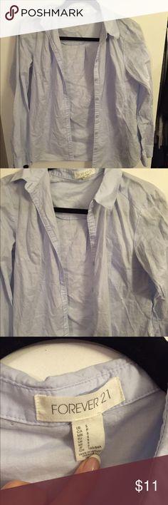 Classic light blue button down shirt size S Accepting offers!!  Classic light blue button down shirt size S Forever 21 Tops Button Down Shirts