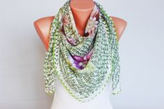 Turkish oya scarf Hand crocheted  VINTAGE Yazma scarf by SenasShop, $24.00