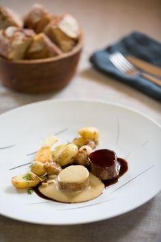 Mignon de porc et pommes de terre grenaille au sabayon Verjus miel - Marie France, magazine féminin