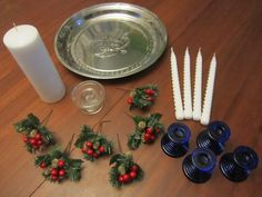 Materials for DIY Simple and Frugal Advent Wreath