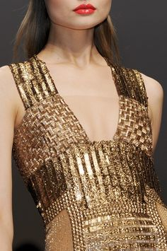 glittering gold, gianfranco ferre.