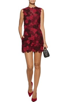Shop on-sale Valentino Cotton-blend guipure lace and silk playsuit. Browse other discount designer Jumpsuits & more on The Most Fashionable Fashion Outlet, THE OUTNET.COM