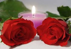 red rose beauty candle picture and wallpaper