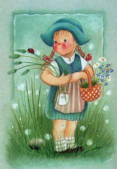 Scandinavian Kids, Creation Photo, Gif Animé, Doll Eyes, Butterfly Art, Whimsical Art, Cute Illustration, Illustrations, Spring Flowers