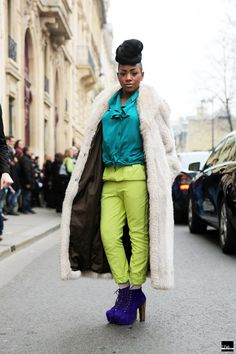 Outside - Fur, Fur - Color Blocking