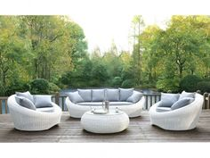 Garden whiteheaven woven resin off-white sofa. Chairs and coffee table. Rattan Outdoor Furniture, Garden Furniture, Outdoor Decor, Outdoor Ideas, Round Chair, White Sofas, Balcony Garden, Sofa Chair, Terrazzo