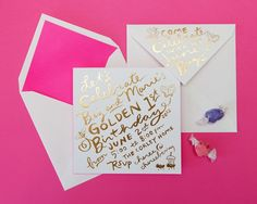 A Golden 1st Birthday | Cheree Berry Paper