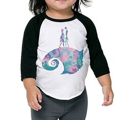Watercolor Nightmare Before Christmas Unisex Toddler Organic Toddler 34 Sleeve Baseball Tee *** Check out this great product.
