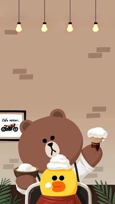 Line Friends 배경화면 Lines Wallpaper, Brown Wallpaper, Soft Wallpaper, Cute Wallpaper For Phone, Sunset Wallpaper, Bear Wallpaper, Wallpaper Iphone Disney, Kawaii Wallpaper, Blue Wallpapers