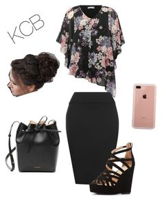 """""""Sunday """" by karlibrasel on Polyvore featuring M&Co, WearAll, Charlotte Russe, Mansur Gavriel and Belkin"""