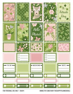 Lovely spring #stickers for #HappyPlanner