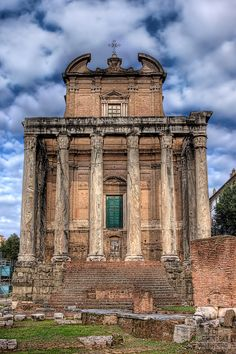 The Temple of Antoninus and Faustina is an ancient Roman temple in Rome, adapted to the church of San Lorenzo in Miranda. It stands in the Forum Romanum, on the Via Sacra, opposite the Regia. The temple was begun in 141 by the Emperor Antoninus Pius and was intitially dedicated to his deceased and deified wife, Faustina the Elder. When Antoninus Pius was deified after his death in 161, the temple was re-dedicated jointly to Antoninus and Faustina at the instigation of his successor, Marcus…