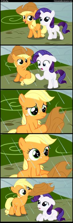 a rainy day. Apple jack is so sweet i love her
