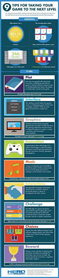 The 9 tips for a better game development