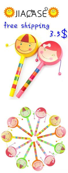 #Smile #Face #Cartoon #Hand #Bell #Toys Gift #Musical #Instrument Rattle #Drum #Spin #Toys for Baby #Rattle for #Kids #Brinquedos