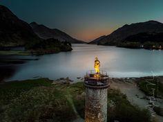 Glenfinnan Monument at blue hour in Highlands