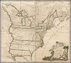 The first map of the United States, created in 1784.  I hope the Library of Congress makes high-resolution copies available.  This would look great on my wall.