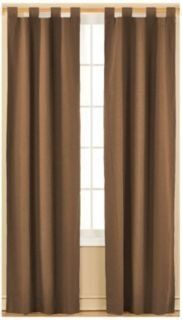"2 Piece Set Taptop Camel Polyester Window Curtain by BEDnLINENS. $17.99. steady brown polyester single panel no lining. Pair of 2 tab-top panels each 51""W x 84""L. machine washable. imported. Pair of 2 Tap Top steady brown  Polyester solid color Panels easy put on to keep your home privacy, and creates the look of expensive drape when seen from the street."