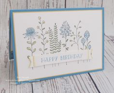 Stampin' Up! - Flowering Fields .... Teri Pocock - http://teriscraftspot.blogspot.co.uk/2016/03/flowering-fields.html