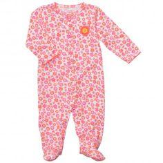 Carter's Pijama Broches Flores para bebé prematuro, Se puede lavar a máquina.