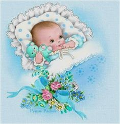 Ideas baby ilustration boy bebe for 2019 Free Baby Patterns, Baby Knitting Patterns, Sewing Patterns Free, Crochet Patterns, Free Knitting, Clipart Baby, Vintage Baby Boys, Vintage Children, Baby Images