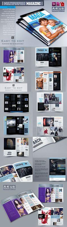 Carlaa Magazine Pinterest Template, Magazines and Brochures - fashion design brochure template