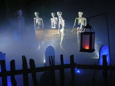 Image result for HALLOWEEN SKELETONS CARRYING COFFIN 5' FT PROP HAUNTED HOUSE GRAVEYARD