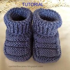 Ideas que mejoran tu vidaCollection of Knit Ankle HighHandmade baby booties for babyPattern in Spanish but a step by step tutorial makes it easy…Discover thousands of images about DIY Adorable Knitted Baby Booties da fare subito. Baby Knitting Patterns, Baby Booties Knitting Pattern, Baby Shoes Pattern, Knit Baby Booties, Crochet Baby Shoes, Crochet Slippers, Knitting For Kids, Baby Patterns, Knitted Baby