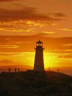 Lighthouse at Sunset  Richard Nowitz
