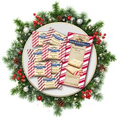 A sweet centerpiece for sharing | http://www.ghirardelli.com/store/shop-products/collections/peppermint-bark.html/?utm_source=Pinterest&utm_medium=Social&utm_campaign=peppermintbark