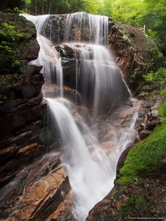 Waterfall in the White Mountains of New Hampshire.