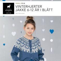 DSA57-11 Vinterhjerter genser 1-4 år i blått – Du Store Alpakka Sweaters, Fashion, Tejidos, Moda, Fashion Styles, Sweater, Fashion Illustrations, Sweatshirts, Pullover Sweaters