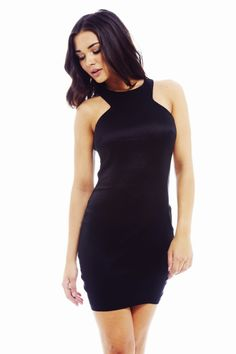 PLAIN BLACK BODYCON DRESS