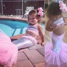 Mermaid Costume Kids, Mermaid Tutu, Mermaid Princess, Mermaid Scales, Baby Costumes, Halloween Costumes, Mermaid Parties, Little Girl Birthday, Halloween Disfraces