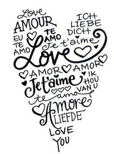this fits me perfectly . I love you in french or spanish just sounds so romantic Te amo All You Need Is Love, My Love, For You, I Love Heart, Heart Pics, Heart Type, Love Languages, Be My Valentine, Silhouette Cameo