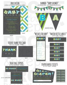 BABY Banner Boy  Baby Shower Invitation Party by doodlebugandpeep, $12.00