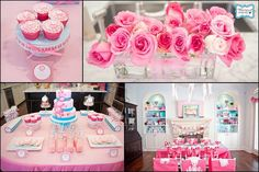 Tea party~Love the pink & turquoise together!