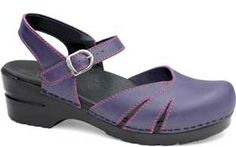 Dansko latigo grape clog purple