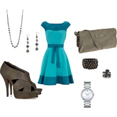 First attempt at putting an outfit together with Polyvore. Perfect for going out to dinner.