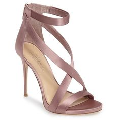 Women's Imagine Vince Camuto 'Devin' Sandal ($93) ❤ liked on Polyvore featuring shoes, sandals, vintage rose satin, rose shoes, strap sandals, strappy sandals, vintage t-strap shoes and vintage shoes