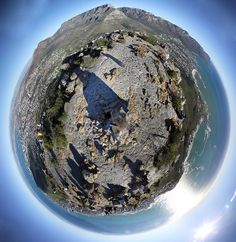 Lion's Head at 360 degrees. Stereographic Projection, Rugby Games, Africa Travel, Lions, South Africa, Planets, Fashion Photography, African, Spaces