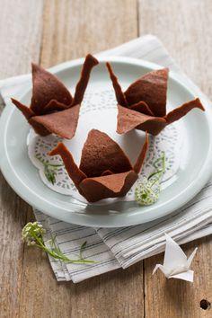 Grues origami en chocolat - Carnets Parisiens (France)