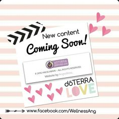 It's official!  My wellness website has been approved by dōTERRA corporate!  I am beyond thrilled and can not wait to revamp my entire site.  Stay tuned for new blog posts, recipes, tips and so much more! News Blog, Doterra, Stay Tuned, Essential Oils, Wellness, Posts, Website, Tips, Recipes
