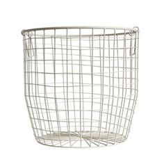 Wire Basket Large White - Down To The Woods